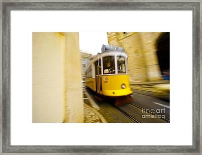 Tram Framed Print by Andre Poling
