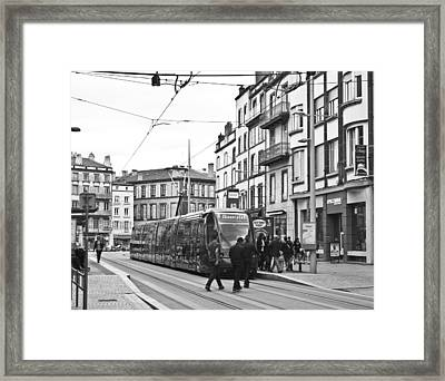 Tram In Clermont Ferrand Framed Print by Georgia Fowler