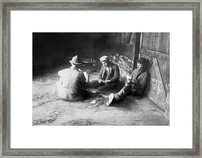 Tramps Traveling In A Freight Car Pass Framed Print