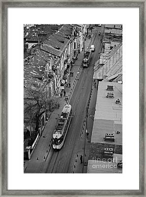 Trams In Iasi Framed Print by Gabriela Insuratelu