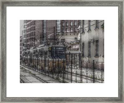 Tramway Framed Print by Angel Jesus De la Fuente