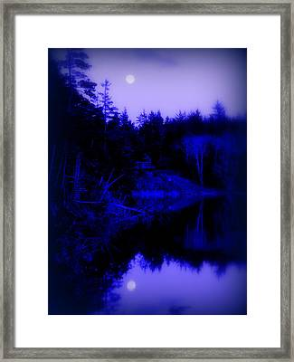 Tranquil Blue Moons Framed Print by Cindy Wright