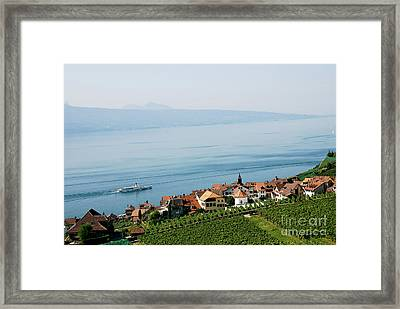 Tranquil Lake Geneva Framed Print by Ivy Ho