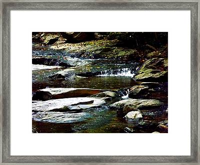 Framed Print featuring the photograph Tranquil River In Asheville Nc by Jodi Terracina