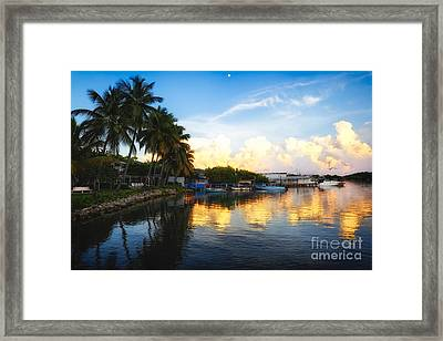 Tranquil Sunset In La Parguera Framed Print by George Oze