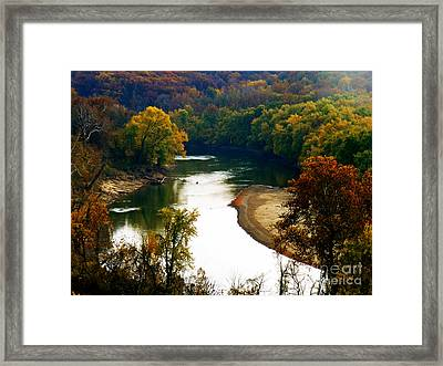 Framed Print featuring the photograph Tranquil View by Peggy Franz