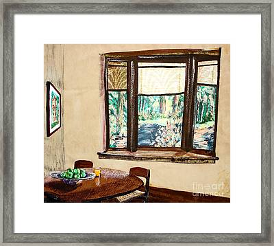 Tranquility 5 Cabin In The Woods Framed Print by Drina Fried