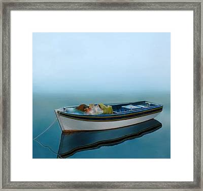 Tranquility Of The Sea Framed Print by Larry Cirigliano