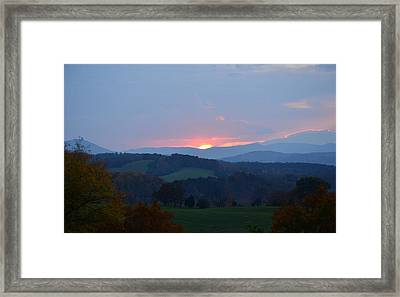 Framed Print featuring the photograph Tranquill Sunset by Cathy Shiflett