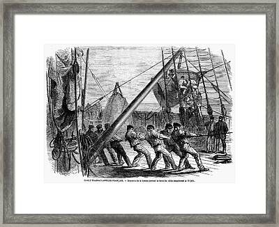 Trans-atlantic Cable, 1869 Framed Print by Granger