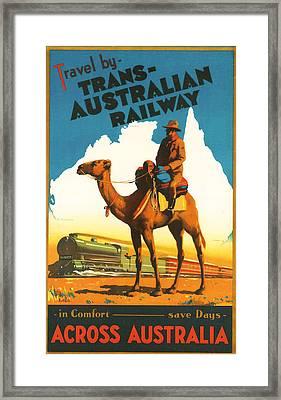 Trans-australia Railway Framed Print