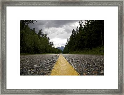 Trans Canada Highway Framed Print by JM Photography