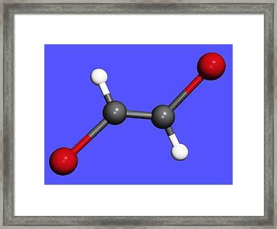 Trans-dibromoethene Molecule Framed Print by Dr Tim Evans