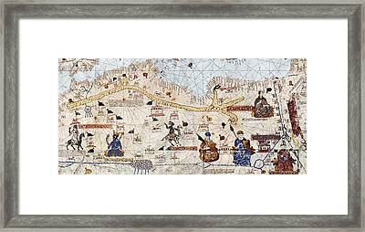 Trans-saharan Caravan Routes 1413 Framed Print by Sheila Terry