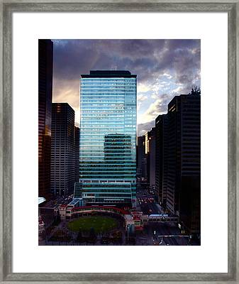 Framed Print featuring the photograph Transcanada Tower by JM Photography