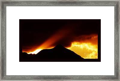 Transcending The Mind Framed Print by Susanne Still