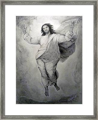 Transfiguration-raphael Framed Print by Miguel Rodriguez