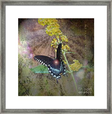 Transformation Framed Print by Patricia Griffin Brett