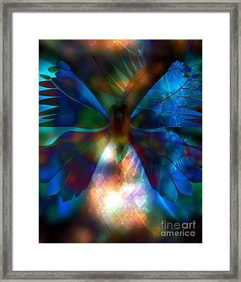 Transforming Hearts Framed Print by Fania Simon