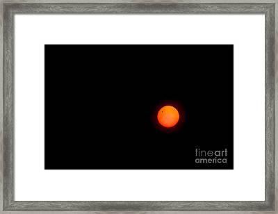 Transit Of Venus 2012 Framed Print