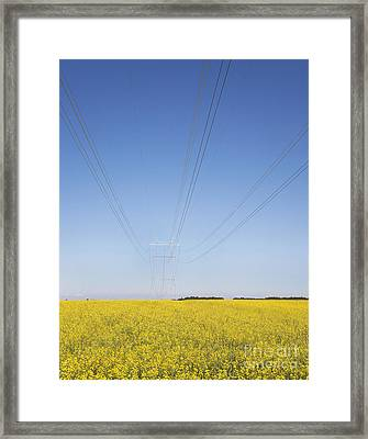 Transmission Towers And Power Lines Framed Print