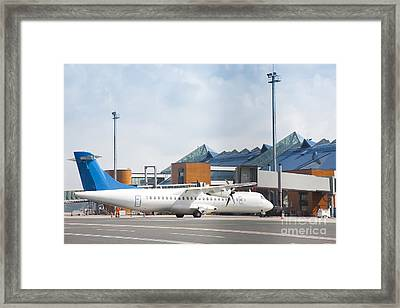 Transport Plane At The Airport Framed Print