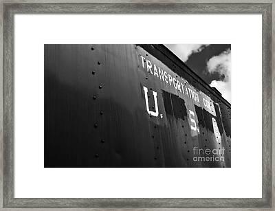Transportation Corps Car Framed Print by Dariusz Gudowicz