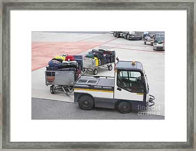Transported Luggage Framed Print