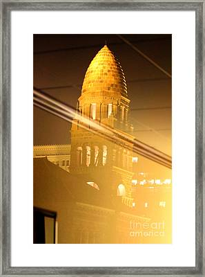 Transposed Tower Framed Print by Alycia Christine