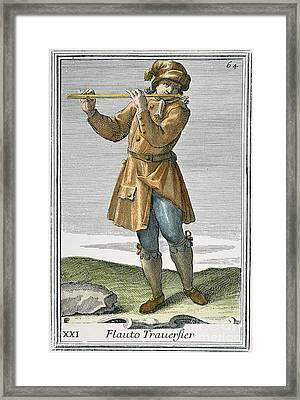 Transverse Flute, 1723 Framed Print by Granger