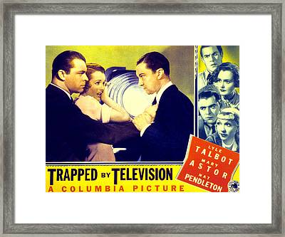 Trapped By Television, Lyle Talbot Framed Print by Everett