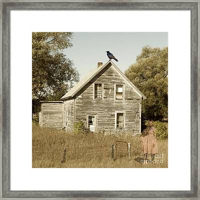 Trapped In Past Tense Framed Print