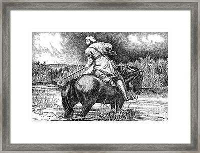 Trapper's Last Shot Framed Print by Gordon Punt