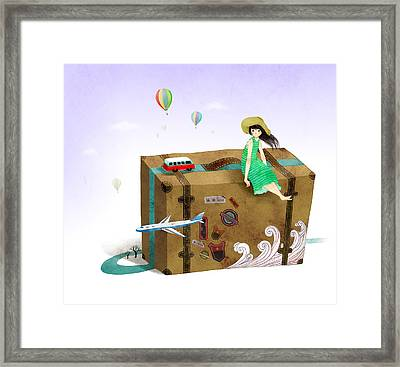 Travel Fantasy Framed Print