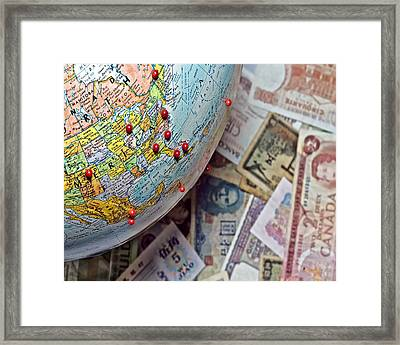 Travel In North America And Abroad Framed Print