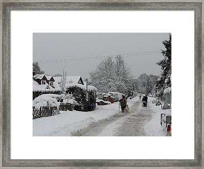 Travelers Of The White World Framed Print by Rdr Creative