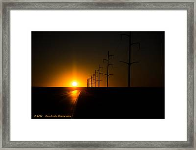 Traveling For Days Framed Print by Dan Crosby