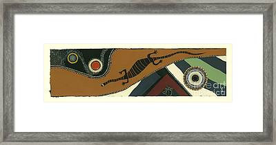 Traveling Goanna Framed Print by Pat Saunders-White