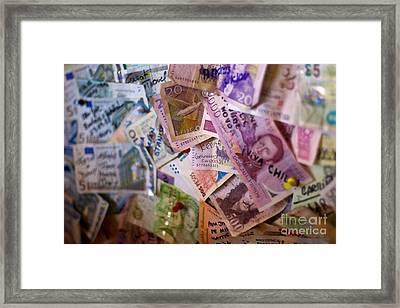 Traveling Money Framed Print