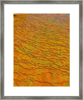 Travertine Jigsaw Framed Print