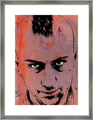 Travis Bickle Taxi Driver Framed Print by Giuseppe Cristiano