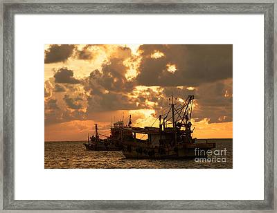 Trawlers  Framed Print by Gary Bridger