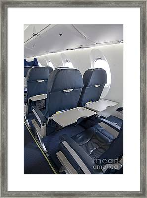 Tray Table On An Airplane Framed Print
