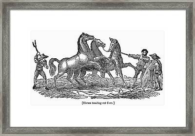 Treading Corn, 1833 Framed Print