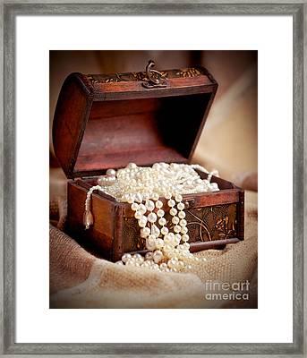 Treasure Chest Framed Print by Gabriela Insuratelu