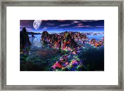 Treasure Hunt By Moonlight 1 Framed Print by Heinz G Mielke