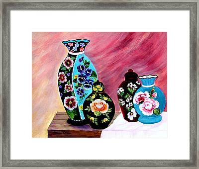 Framed Print featuring the painting Treasures  by Fram Cama