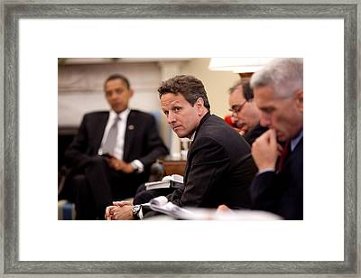 Treasury Secretary Timothy Geithner Framed Print by Everett