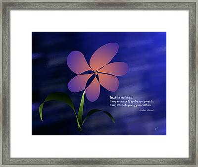 Treat The Earth Well Framed Print by Gerlinde Keating - Galleria GK Keating Associates Inc