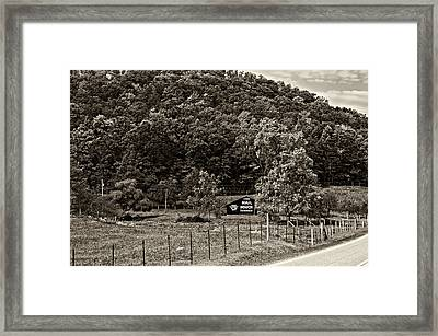 Treat Yourself Sepia Framed Print